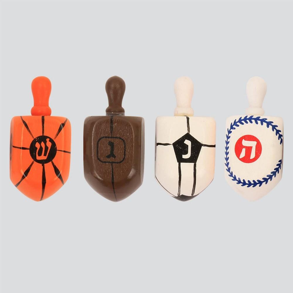 Image of 4ct Hanukkah Dreidel Sports Party Favors