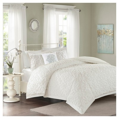 White Amber Comforter Set (Full/Queen)4pc