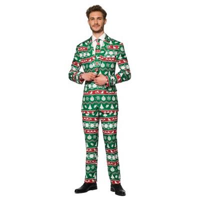 Men's Nordic Suit Christmas Costume Green
