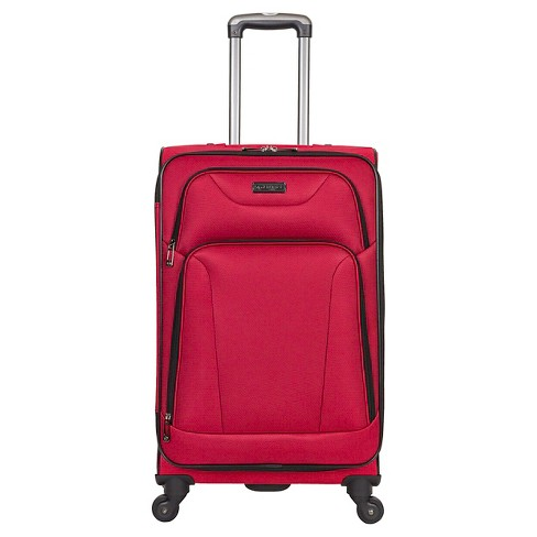 "Heritage Wicker Park Polyester 4 Wheel Expandable Checked Suitcase - Red (24"") - image 1 of 3"
