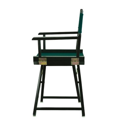 Director's Chair with Black Frame and Hunter Green Canvas