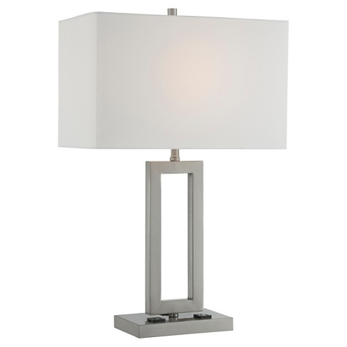 Fiadi 1 Light Table Lamp - Steel/Off White - image 1 of 3