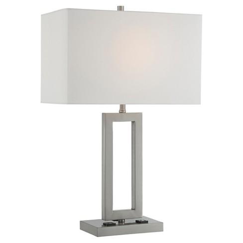 Fiadi 1 Light Table Lamp  - Steel/Off White - image 1 of 3