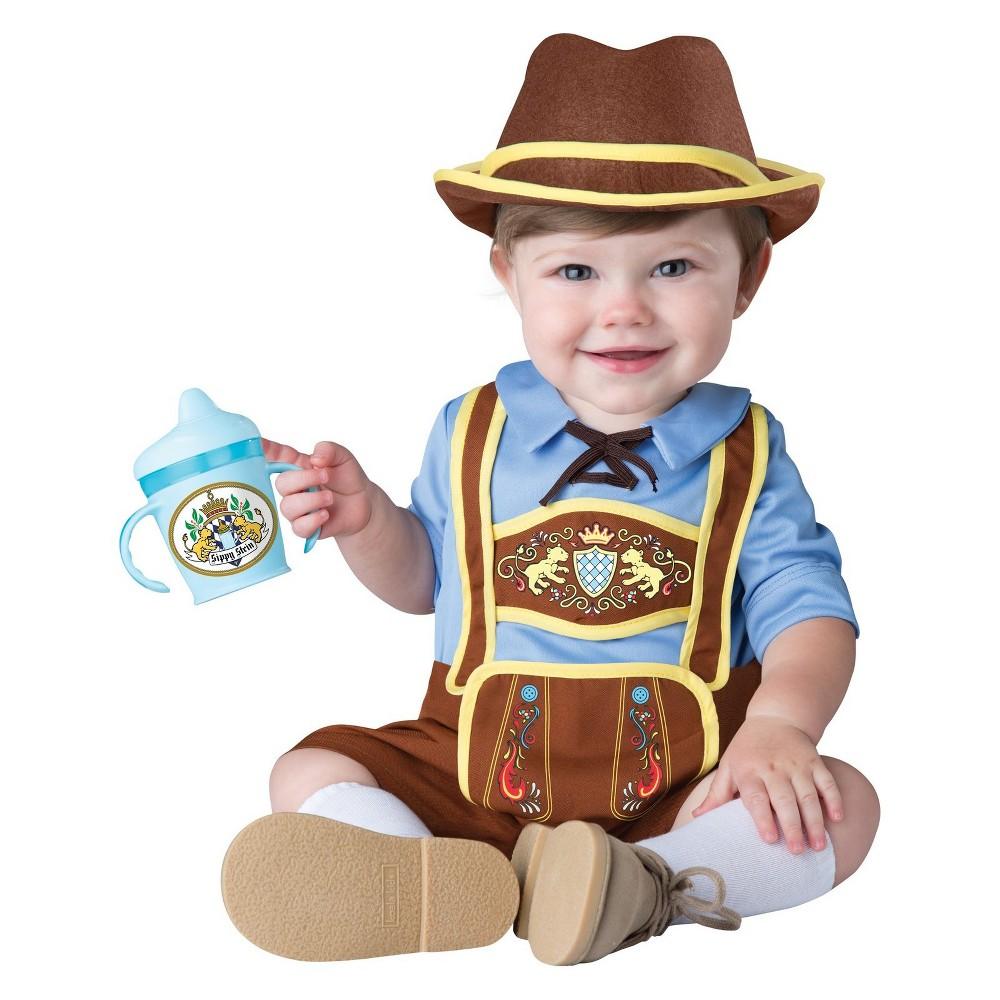 Image of Halloween Toddler Little Lederhosen Halloween Costume M, Men's, Size: Medium, MultiColored