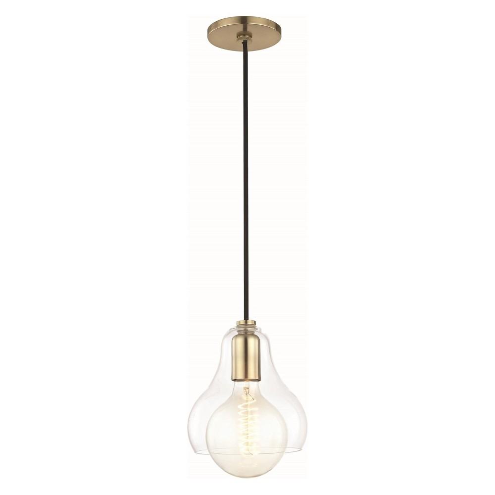 1pc Sadie Large Light Pendant Brass - Mitzi by Hudson Valley