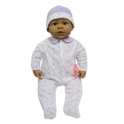 """JC Toys La Baby 20"""" Baby Doll - Purple Outfit with Pacifier"""