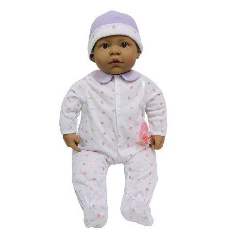 """JC Toys La Baby 20"""" Baby Doll - Purple Outfit with Pacifier - image 1 of 3"""