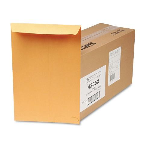 Quality Park Redi Seal Catalog Envelope 10 x 15 Brown Kraft 250/Box 43862 - image 1 of 2