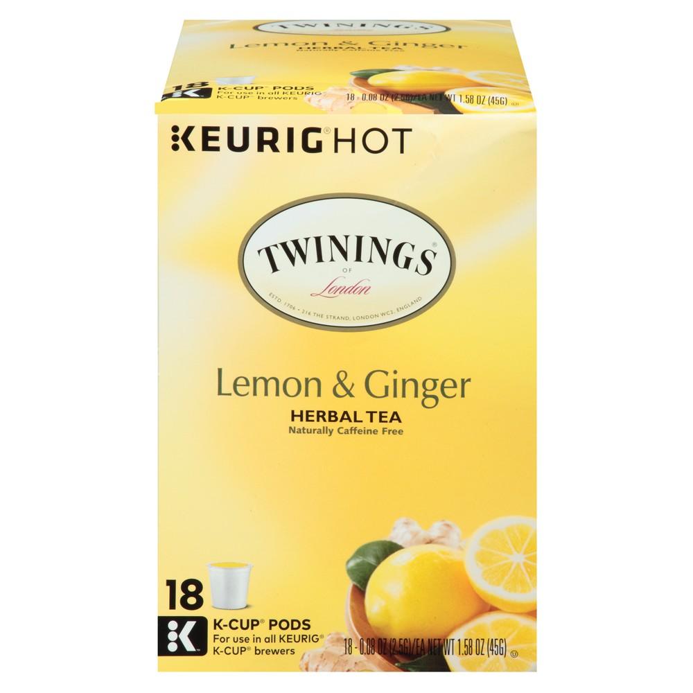 Twinings Lemon & Ginger Herbal Tea - Keurig K-Cup Pods - 18ct