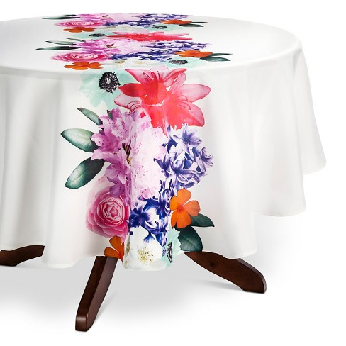 "Coral Tablecloth (70"" Round) - Ladelle - image 1 of 1"