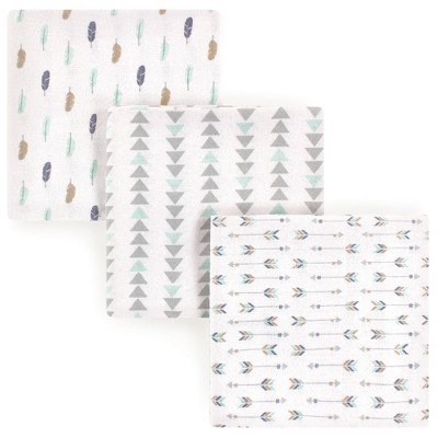 Luvable Friends Baby Boy Cotton Flannel Receiving Blankets, Boy Feathers, One Size