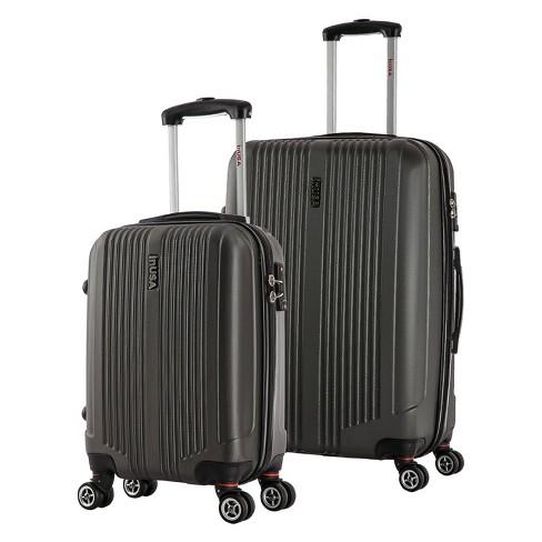 InUSA San Francisco 2pc Hardside Spinner Luggage Set - Charcoal - image 1 of 4