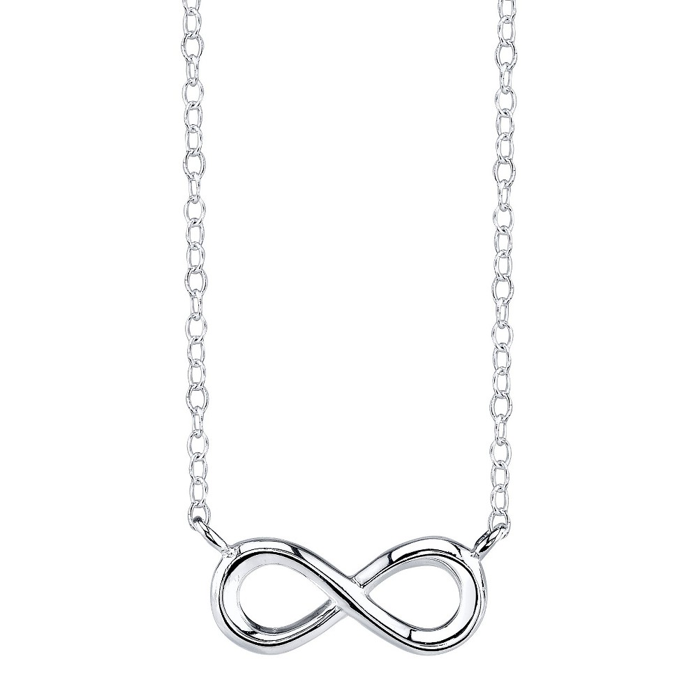 Sterling Silver Chain with Infinity Pendant - Silver, Women's, Natural
