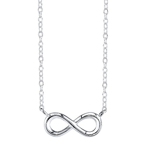 Sterling Silver Chain with Infinity Pendant - Silver - image 1 of 1