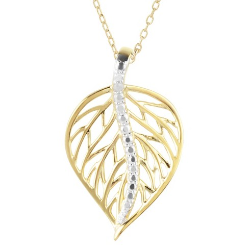 Women's Journee Collection Spine Leaf Pendant Necklace in Sterling Silver - image 1 of 2