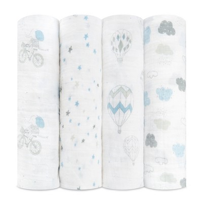 Aden + Anais Swaddles 4pk - Night Sky Reverie - White