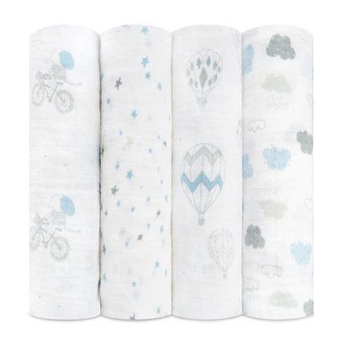 a5894b2aaba4c Aden + Anais Swaddles 4pk - Night Sky Reverie - White   Target