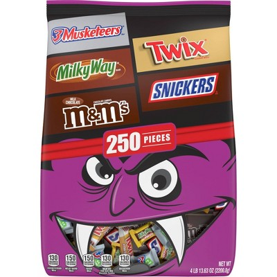 M&M's, Snickers, Twix & More Halloween Variety Pack - 77.63oz/250ct
