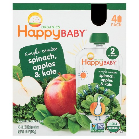 Happy Baby Apple Spinach, & Kale - 3.5oz (4pk) - image 1 of 1