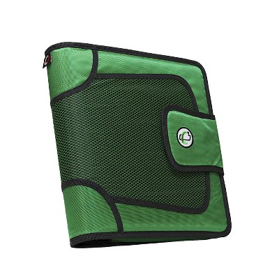 Case-it The Open Tab Binder with Tab File, O-Ring, 2 Inches, Green
