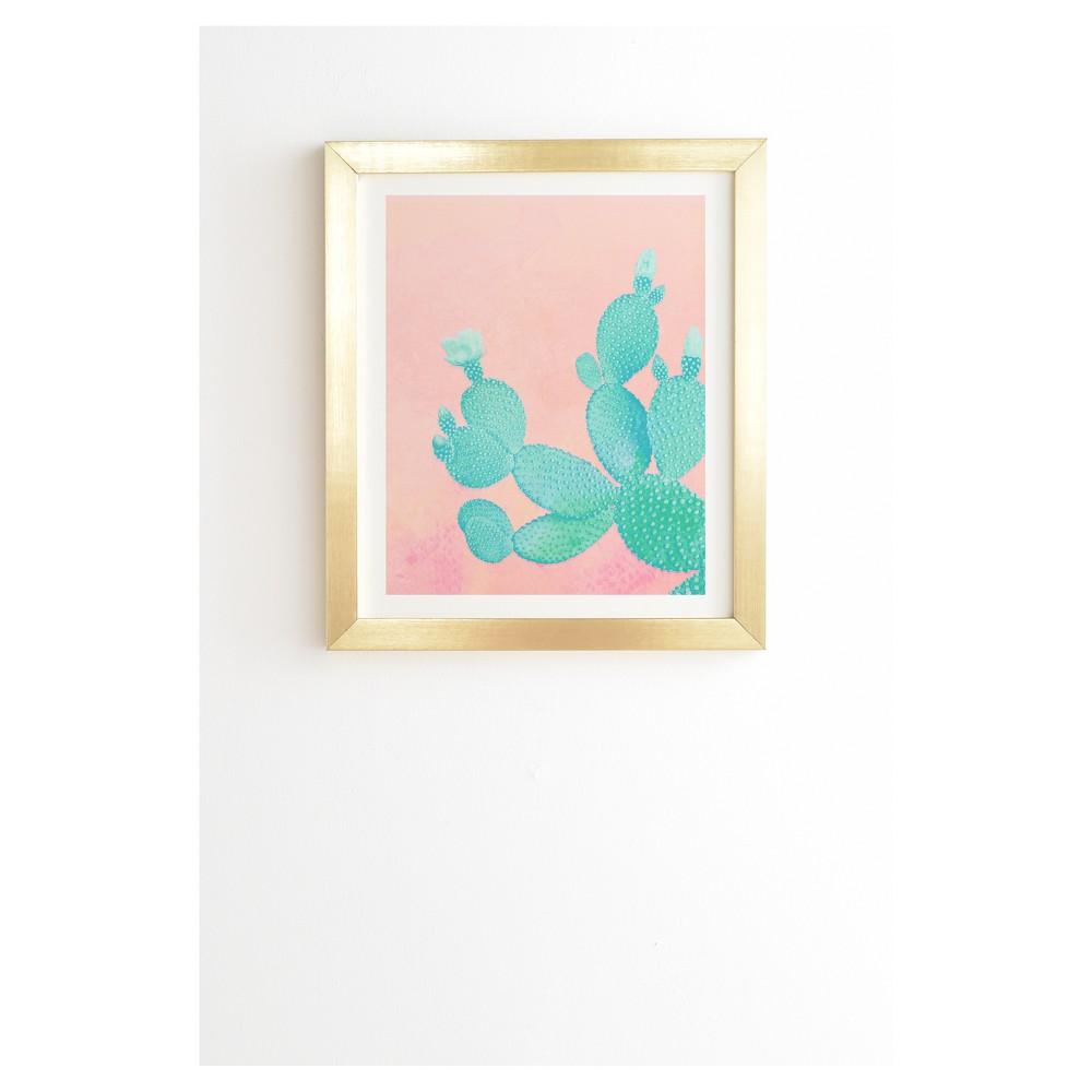 Kangarui Pastel Cactus Framed Wall Art 19
