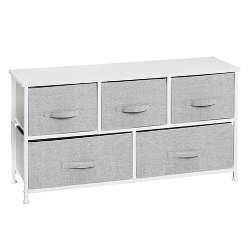 mDesign Fabric 5-Drawer Closet Storage Organizer Furniture Unit - image 1 of 4