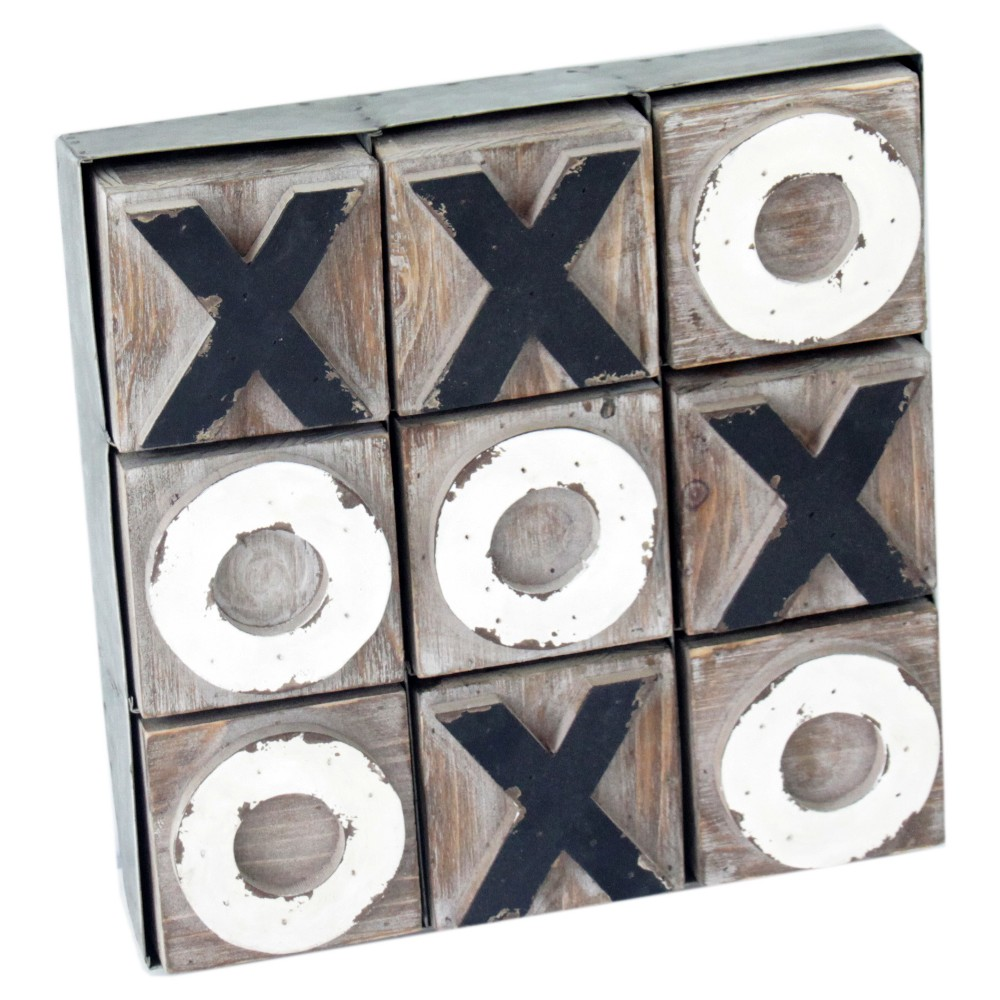 """Image of """"12"""""""" x 2"""""""" Wood Tic Tac Toe Game - VIP Home & Garden"""""""