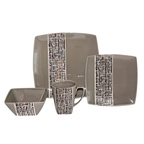 Baum Bros.® Fragments 16pc Dinnerware Set Gray - image 1 of 1