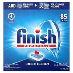 Finish PowerBall All-in-1 Dishwasher Detergent Tabs - 85ct