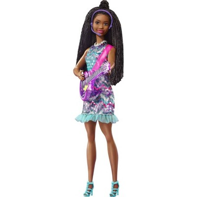 Singing Barbie Doll with Music & Light-Up Feature, Purple Guitar