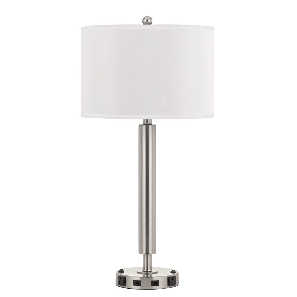 60W X 2 Metal Single Rod Night Stand Lamp Silver (Lamp Only) - Cal Lighting, Multi-Colored