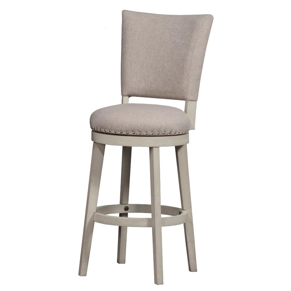 Best Discount 30 Elder Park Swivel Bar Stool WhiteOatmeal Hillsdale Furniture