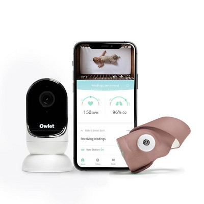 Owlet Duo Smart Baby Monitor with HD Video, Oxygen, and Heart Rate - Dusty Rose