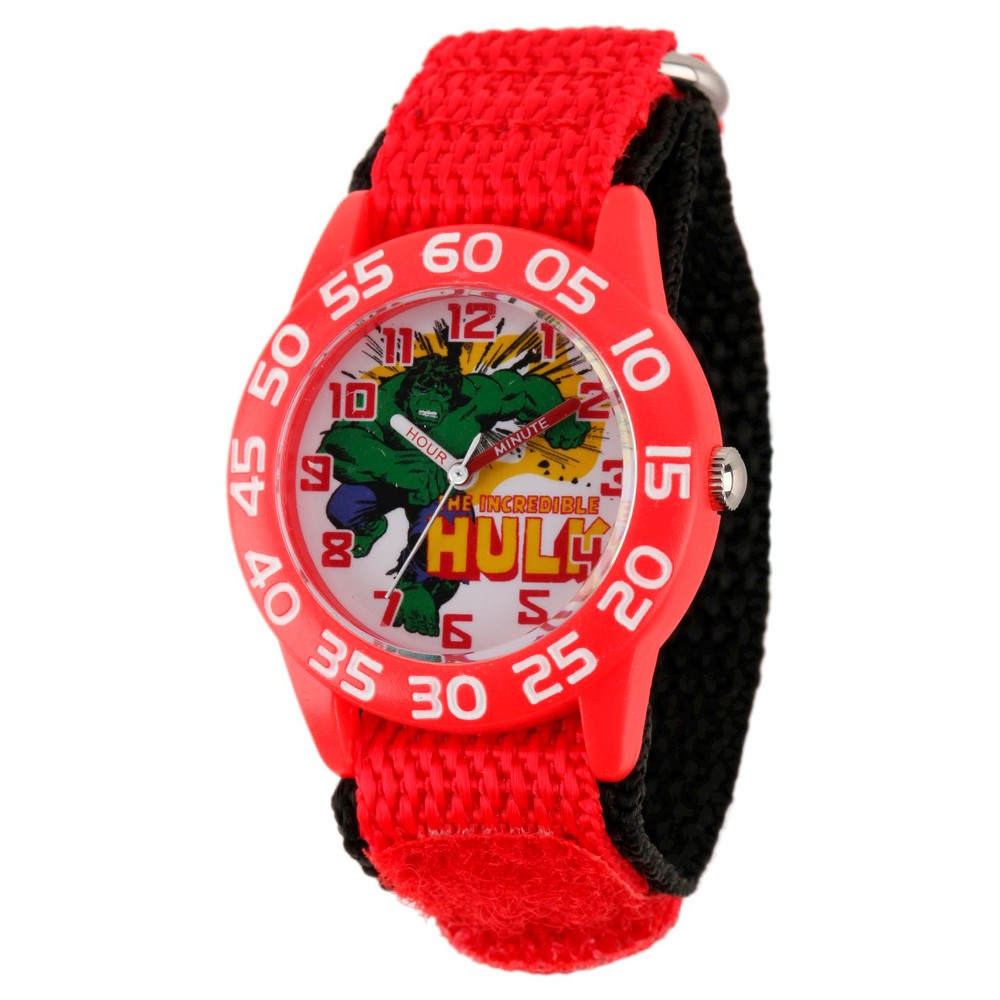 Boys' Marvel Hulk Plastic Watch - Red