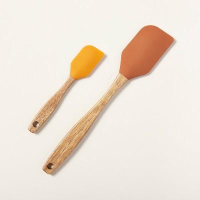2pc Silicone Spatula Set Gold/Cinnamon - Hearth & Hand™ with Magnolia