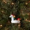 Unicorn Pool Floaty Glass Christmas Tree Ornament - Wondershop™ - image 2 of 2