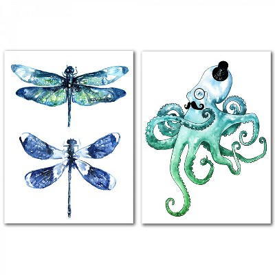(Set of 2) Dragonfly Wings by Sam Nagel Wall Art Set - Americanflat