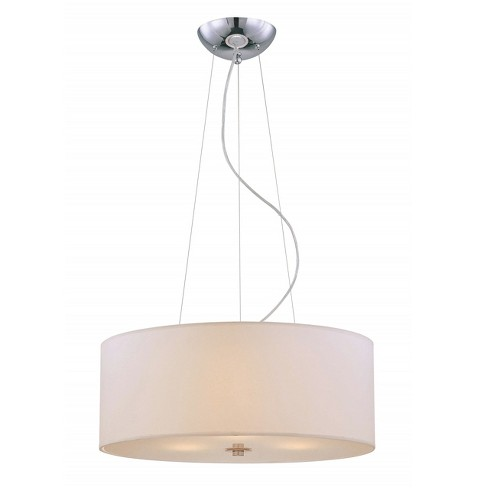 Lite Source Incandescent B Ceiling Light - Silver - image 1 of 1