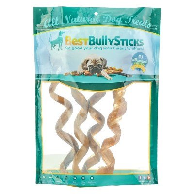 Best Bully Beef Curly Bully Stick Dog Treats - 4pk
