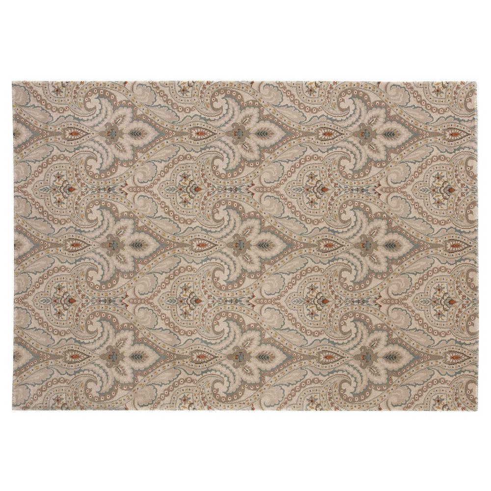 5'X7' Fleur de Lis Area Rug Balsam Blue - Balta Rugs, Blue Off-White The distinctive, repeating botanical pattern of this Vita Area Rug from Balta creates a sophisticated focal point that invites the eye with soft neutrals while creating a calming backdrop for elegant interiors. It'll complement a range of styles from vintage to modern, all while providing comfortable floor coverage. Size: 5'X7'. Color: Blue Off-white. Gender: Unisex. Pattern: Fleur de Lis.