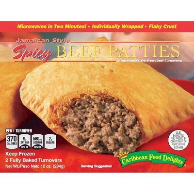 Caribbean Food Delights Frozen Jamaican Style Spicy Beef Patties - 10oz
