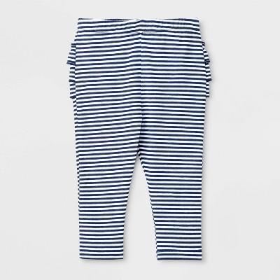 Baby Girls' Stripe Leggings - Cat & Jack™ Blue 3-6M