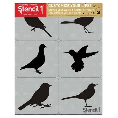"Stencil1 8.5"" x 11"" 6ct Bird Silhouettes Set"