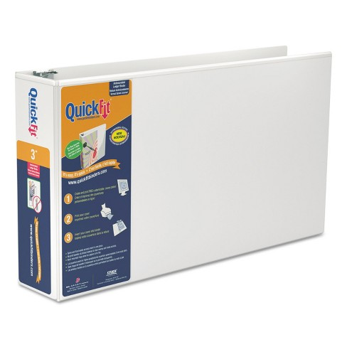 """Stride QuickFit Ledger D-Ring View Binder 3"""" Capacity 11 x 17 White 94050 - image 1 of 3"""