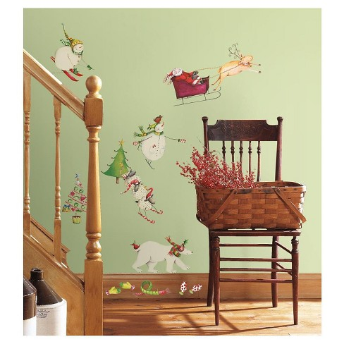 RoomMates Winter Holiday Peel & Stick Wall Decals - image 1 of 2