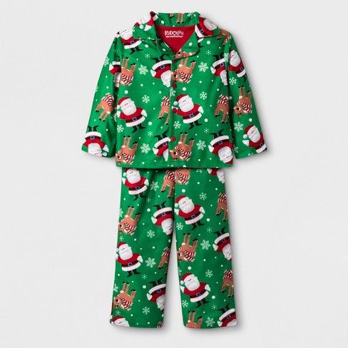 Toddler Boys  Rudolph The Red-Nosed Reindeer 2pc Coat Pajama Set - Green 9ad9655a5
