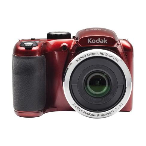 Kodak Pixpro Az252 16mp Point And Shoot Digital Camera 25x Optical Zoom 720p Hd Video Red Target