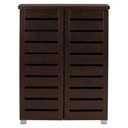 Adalwin Modern And Contemporary 2 Door Wooden Entryway Shoes Storage