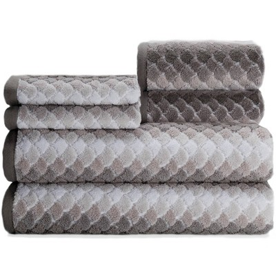 6pc Salina Bath Towel Set Gray - Caro Home