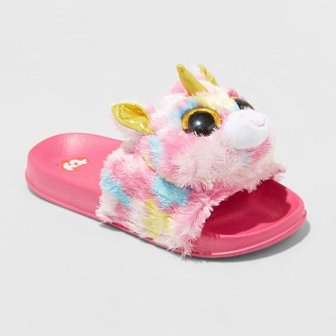 Girls  Beanie Boos Slide Sandals - Pink   Target 6948380c1